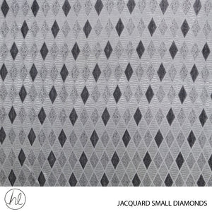 JACQUARD SMALL DIAMONDS (DESIGN 07) (280CM) (PER M) (SILVER)