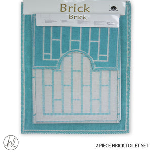 2 PIECE BRICK TOILET SET (50X80) (DESIGN 06)