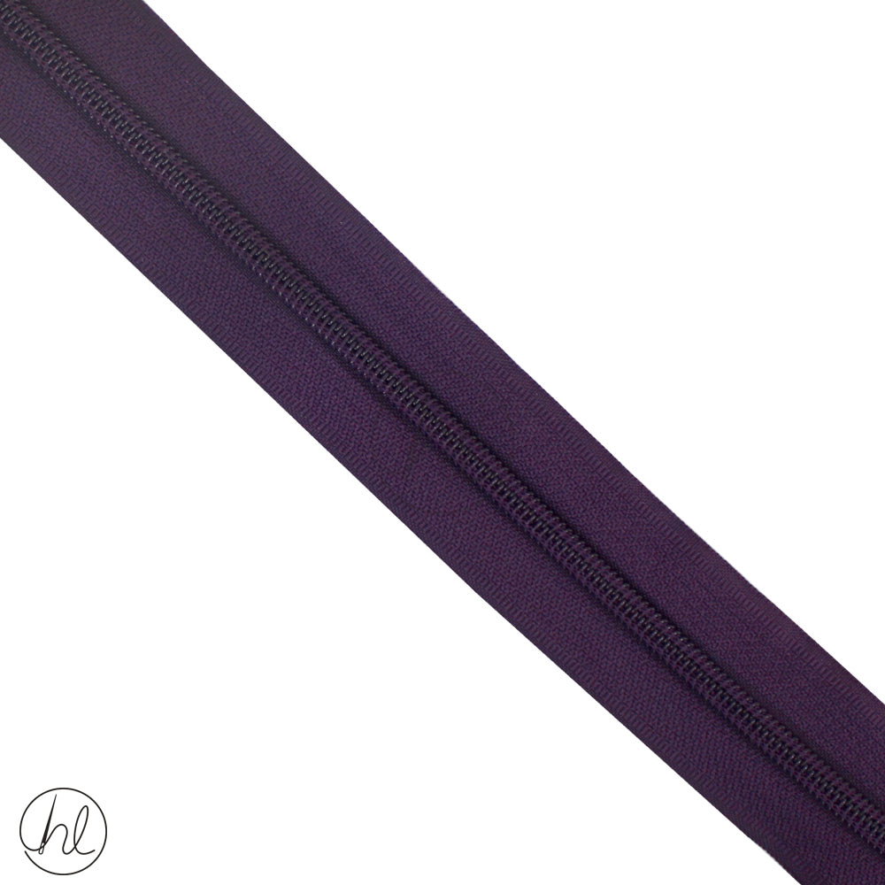 NYLON ZIPS PER METRE (TYPE 5) (DARK PURPLE)