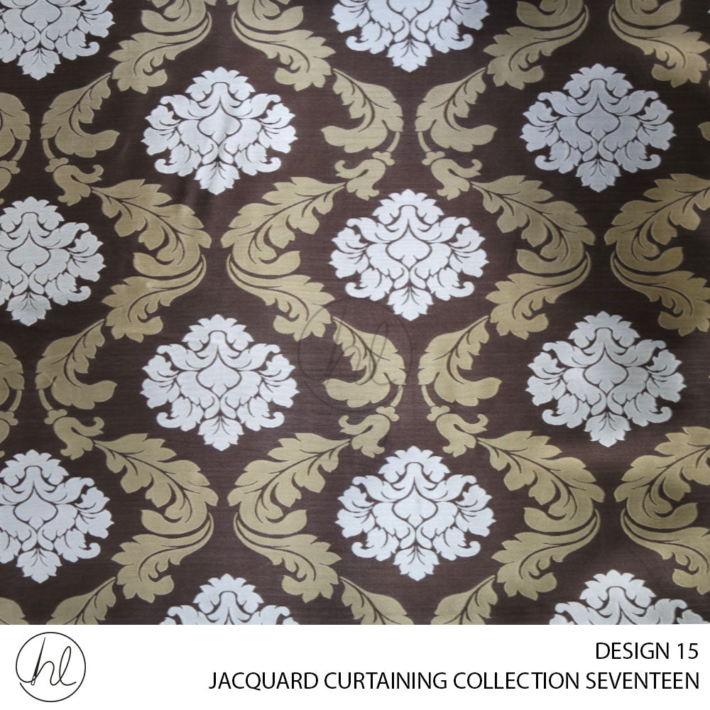 JACQUARD CURTAINING (COLLECTION SEVENTEEN) (DESIGN 15) (140CM) (PER M)