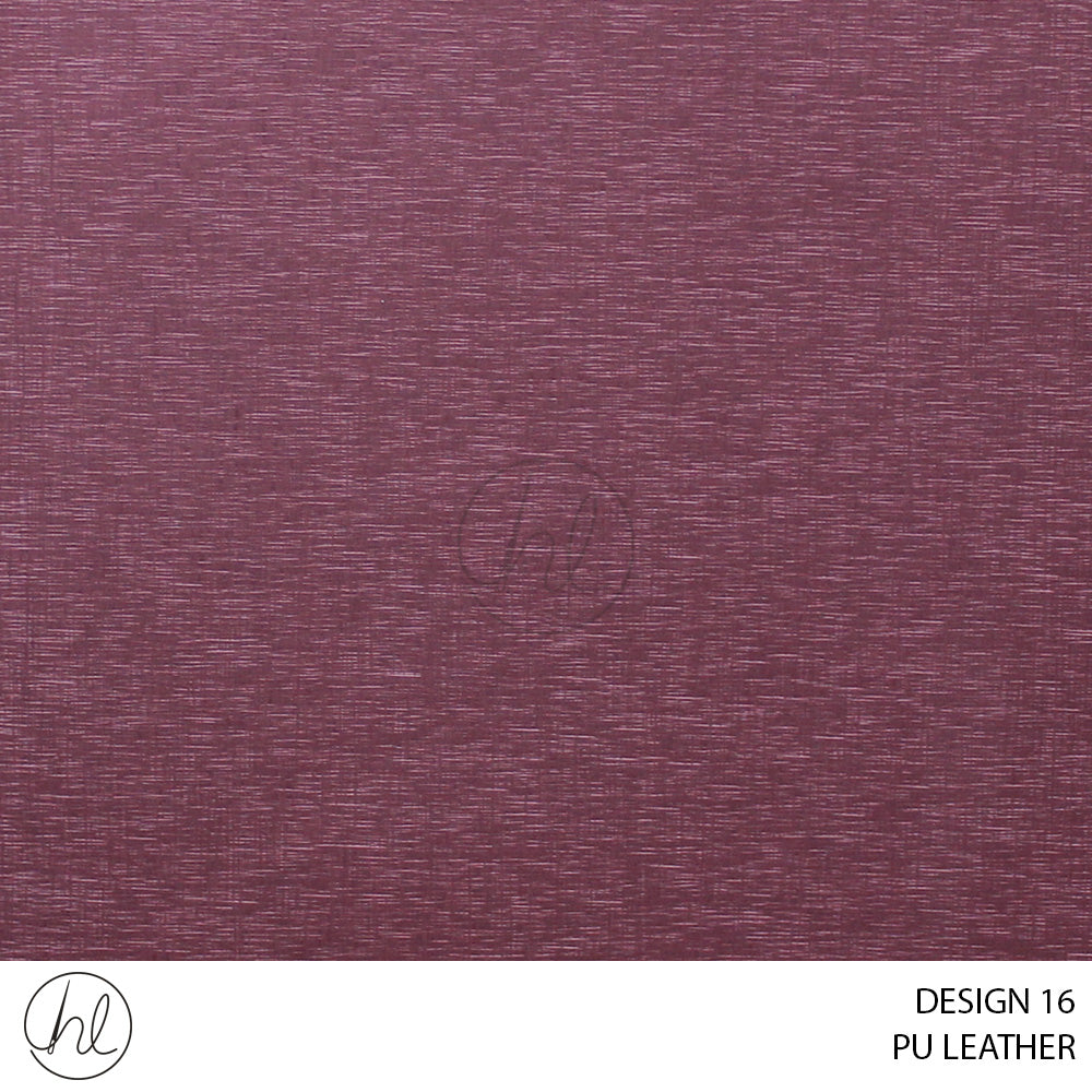 PU LEATHER (DESIGN 16) (140CM) (P/METRE) MAROON