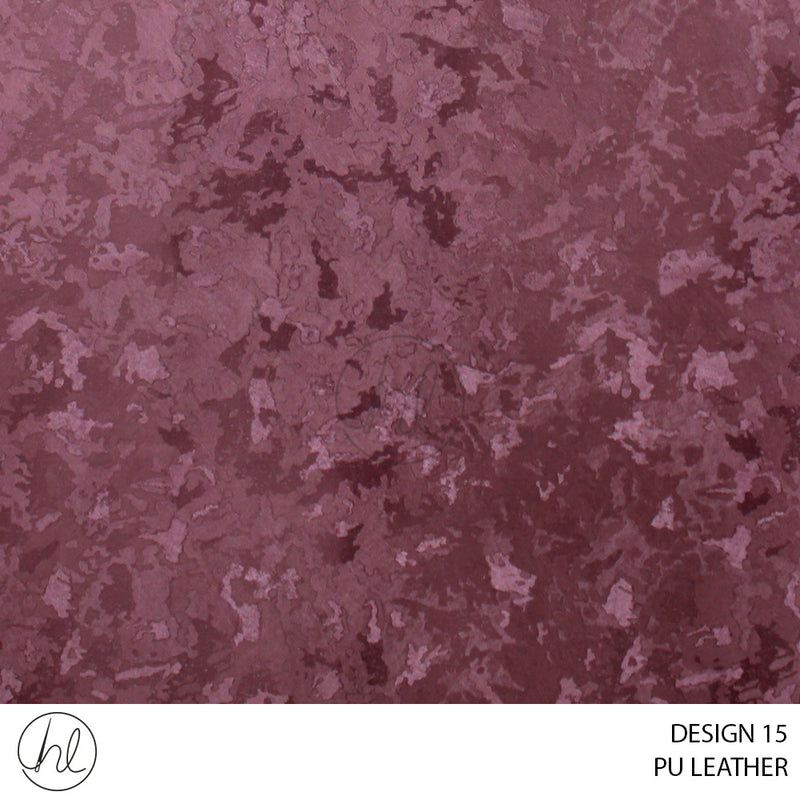 PU LEATHER (DESIGN 15) (140CM) (P/METRE) PLUM