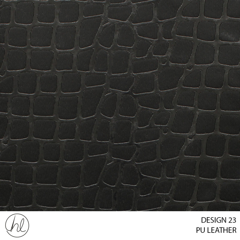 PU LEATHER (DESIGN 23) (140CM) (P/METRE) BLACK
