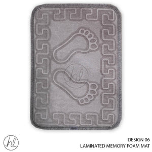 LAMINATED MEMORY FOAM MAT (40X60) (DESIGN 06)