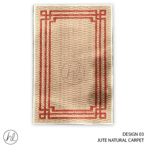 JUTE NATURAL CARPET (50X90) (DESIGN 03)