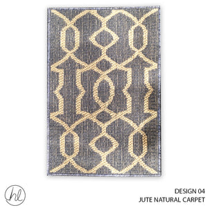 JUTE NATURAL CARPET (50X90) (DESIGN 04)