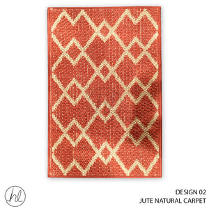 JUTE NATURAL CARPET (50X90) (DESIGN 02)