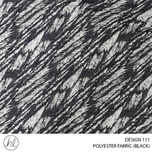POLYESTER FABRIC (DESIGN 111) (280CM) (PER M) (BLACK)
