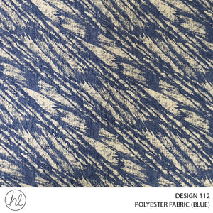 POLYESTER FABRIC (DESIGN 112) (280CM) (PER M) (BLUE)