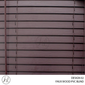 FAUX WOOD PVC BLIND (DESIGN 02) (MAHOGANY)
