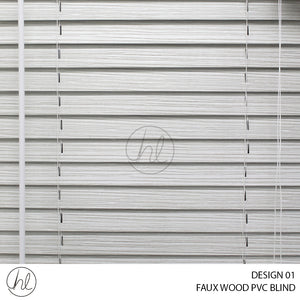 FAUX WOOD PVC BLIND (DESIGN 01) (GRANITE WHITE)