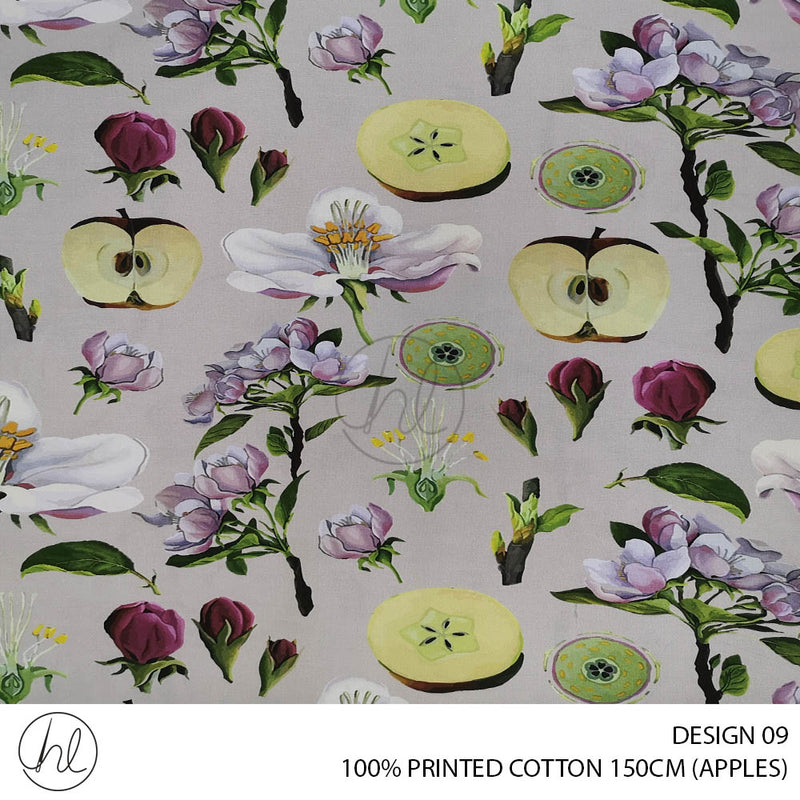 100% PRINTED COTTON (DESIGN 09) (150CM) (PER M)