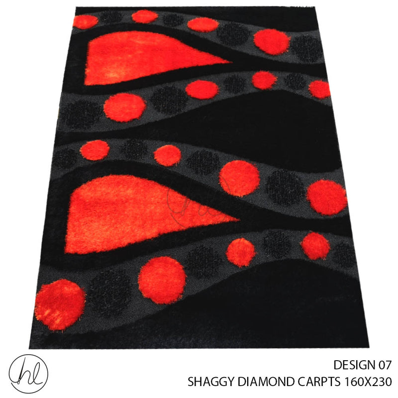 SHAGGY DIAMOND CARPET (160X230) (DESIGN 07)
