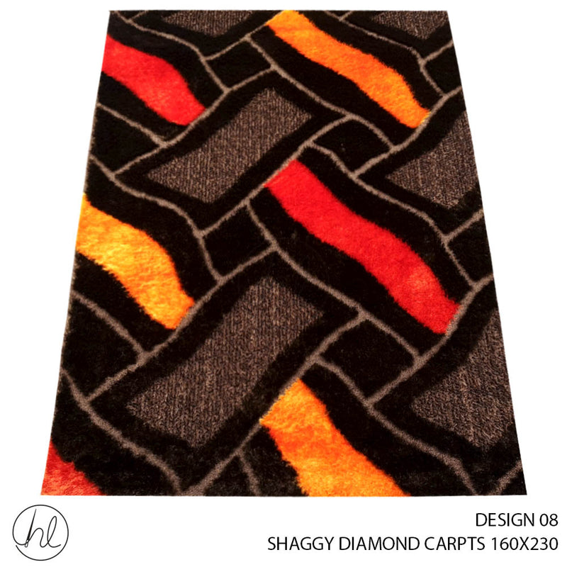 SHAGGY DIAMOND CARPET (160X230) (DESIGN 08)