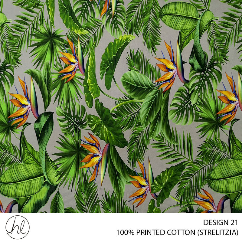 100% PRINTED COTTON (DESIGN 21) (150CM) (PER M)