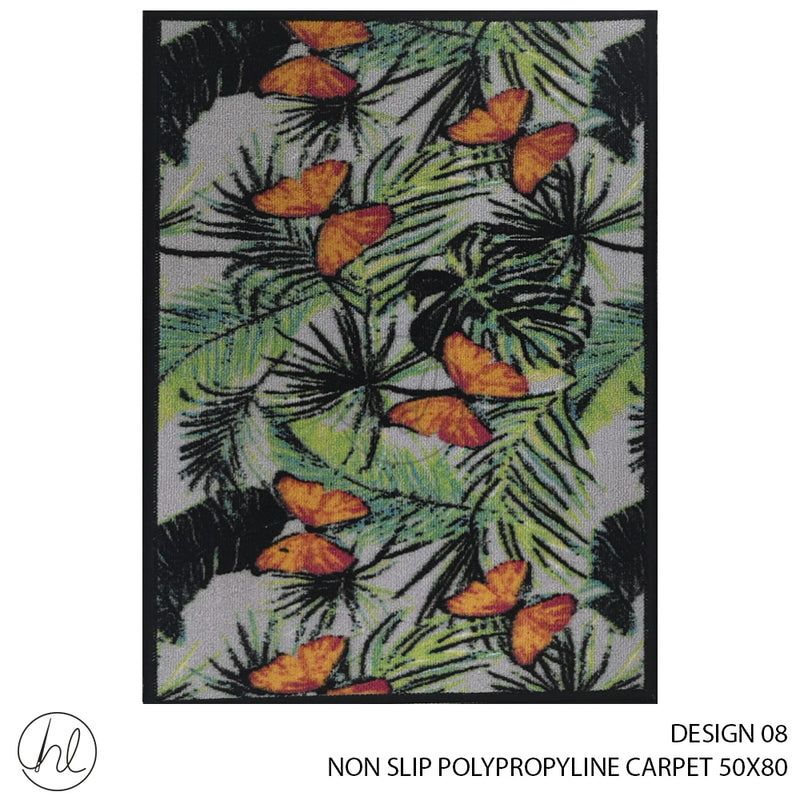 NON-SLIP POLYPROPYLINE CARPET (50X80) (DESIGN 08)