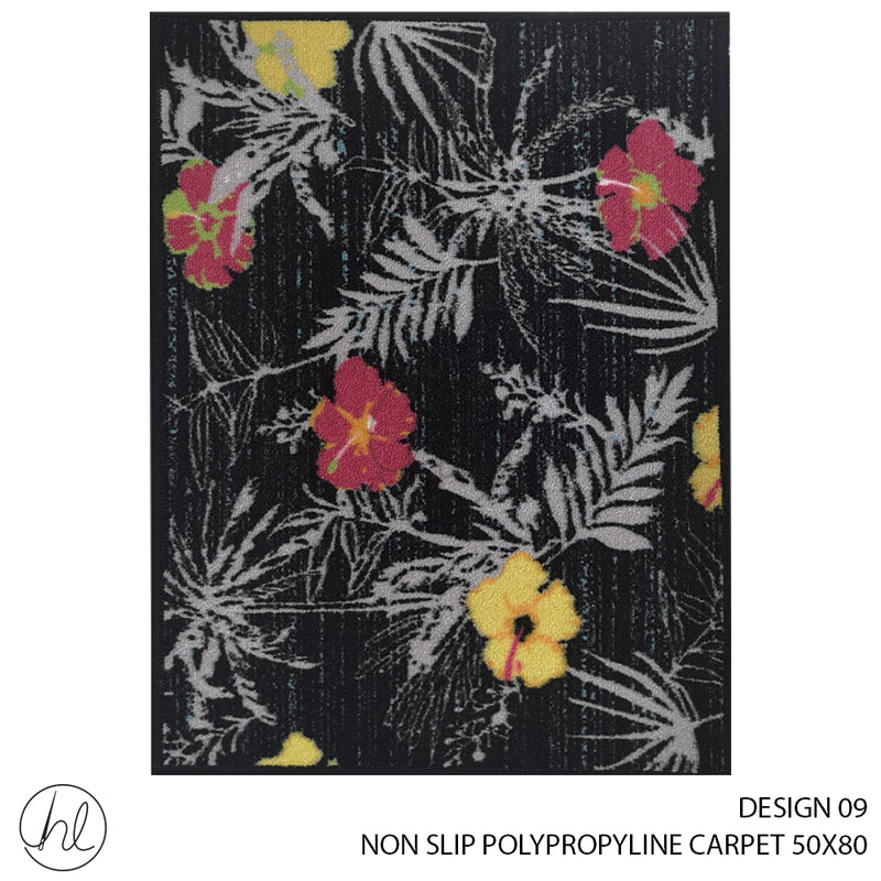 NON-SLIP POLYPROPYLINE CARPET (50X80) (DESIGN 09)
