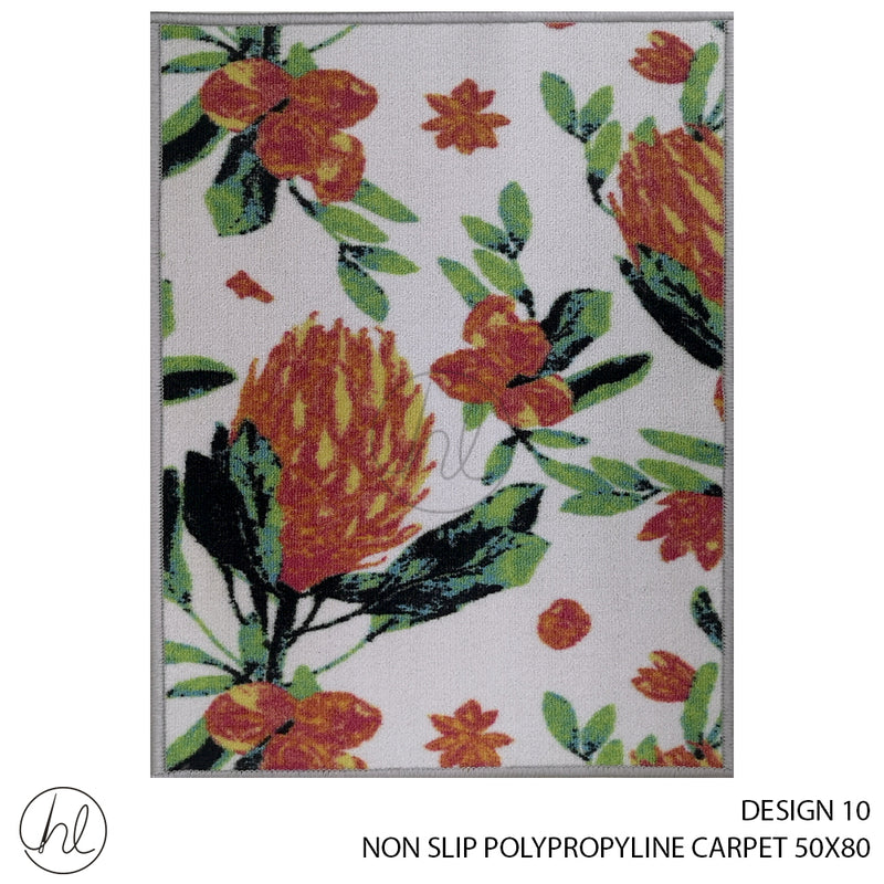 NON-SLIP POLYPROPYLINE CARPET (50X80) (DESIGN 10)