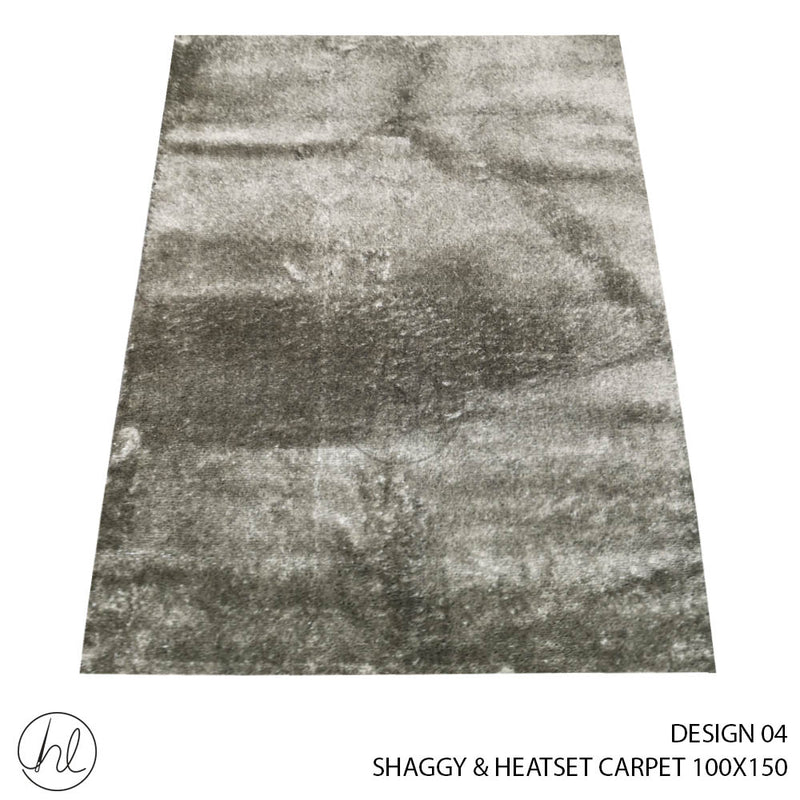 SHAGGY & HEATSET CARPET (100X150) (DESIGN 04)