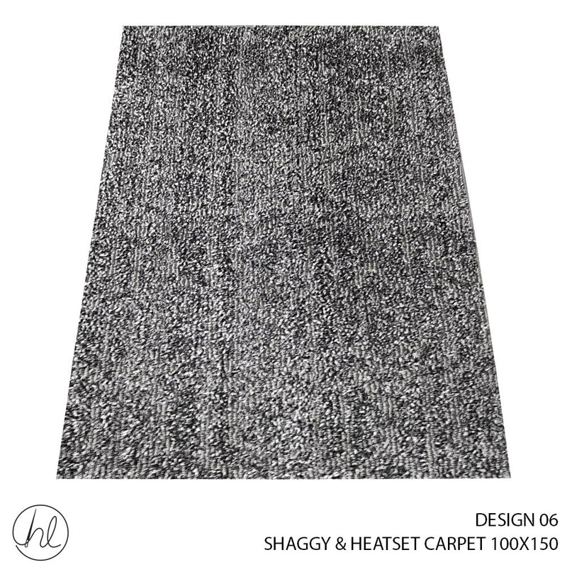 SHAGGY & HEATSET CARPET (100X150) (DESIGN 06)