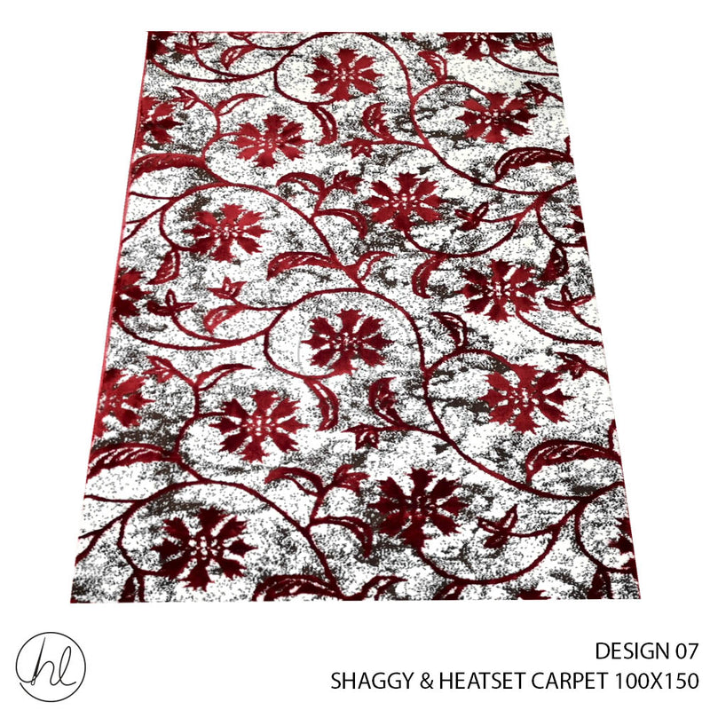 SHAGGY & HEATSET CARPET (100X150) (DESIGN 07)