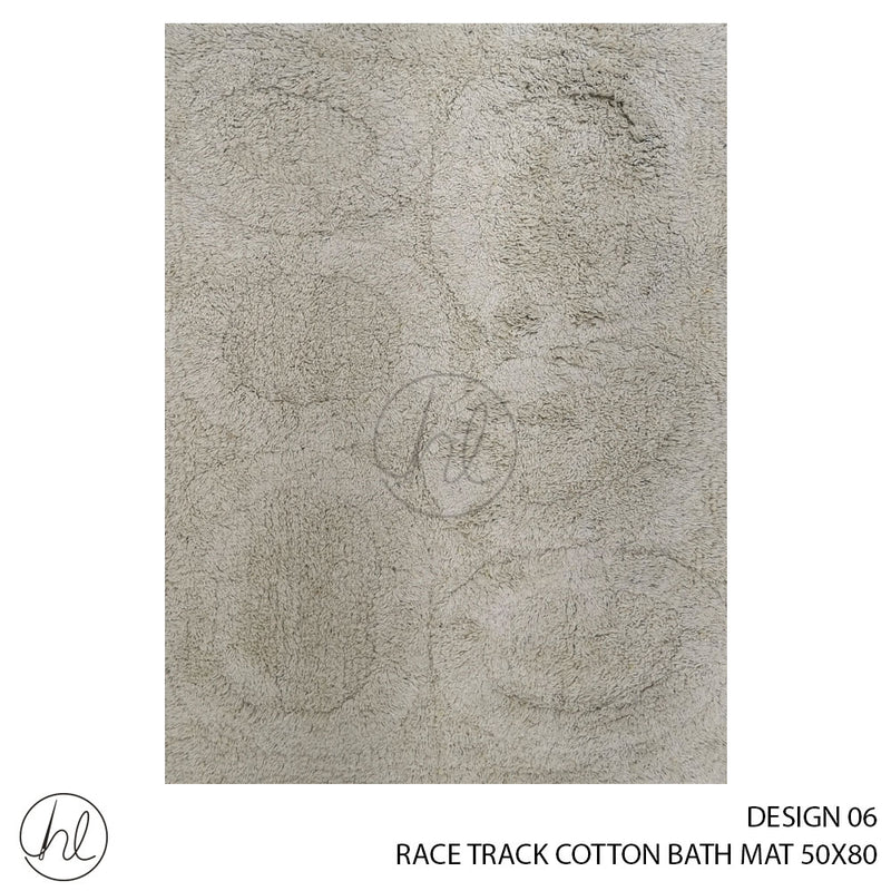 RACE TRACK COTTON BATH MAT (50X80) (DESIGN 06)