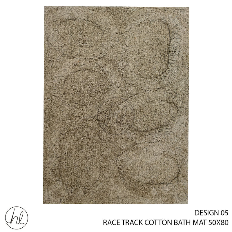 RACE TRACK COTTON BATH MAT (50X80) (DESIGN 05)