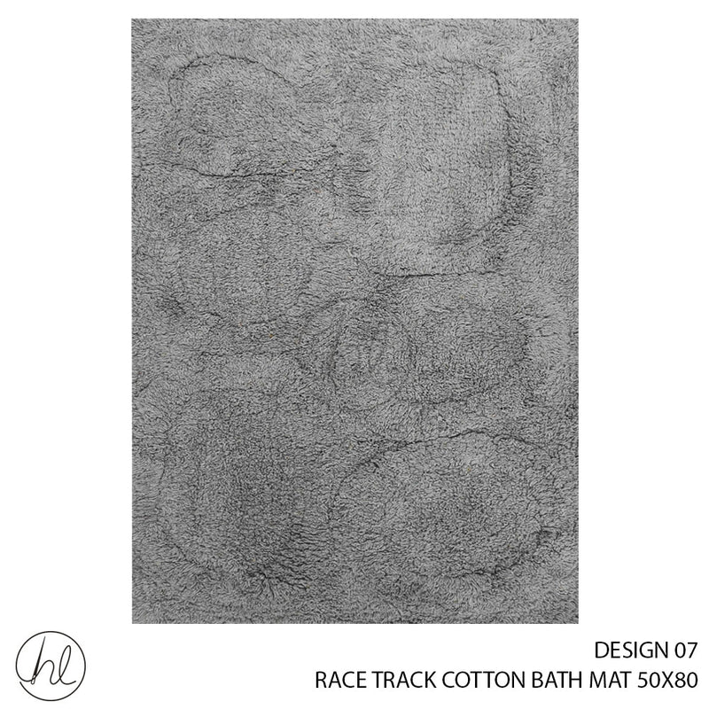 RACE TRACK COTTON BATH MAT (50X80) (DESIGN 07)
