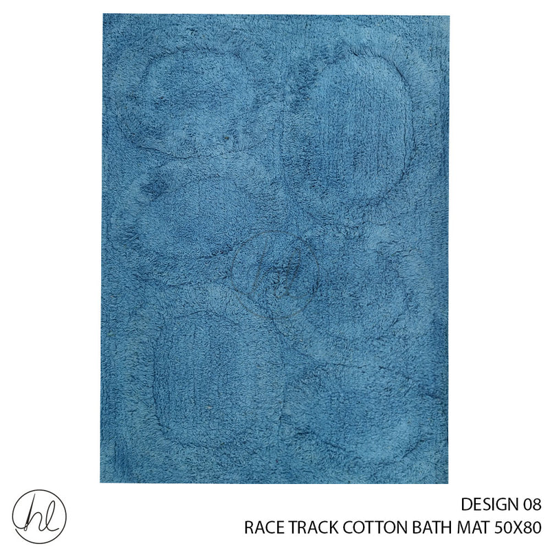 RACE TRACK COTTON BATH MAT (50X80) (DESIGN 08)