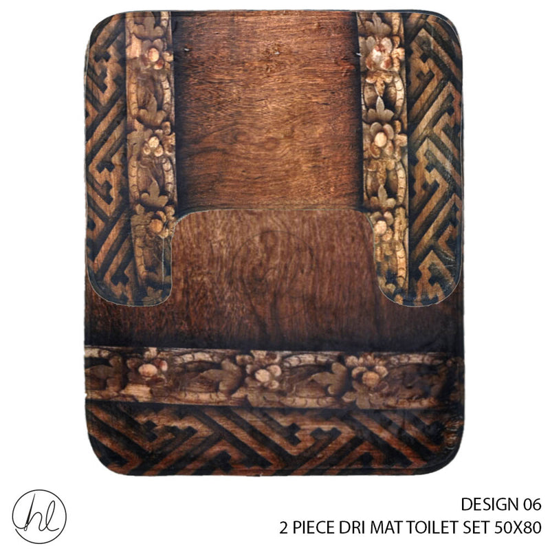 2 PIECE DRI MAT TOILET SET (50X80) (DESIGN 06)