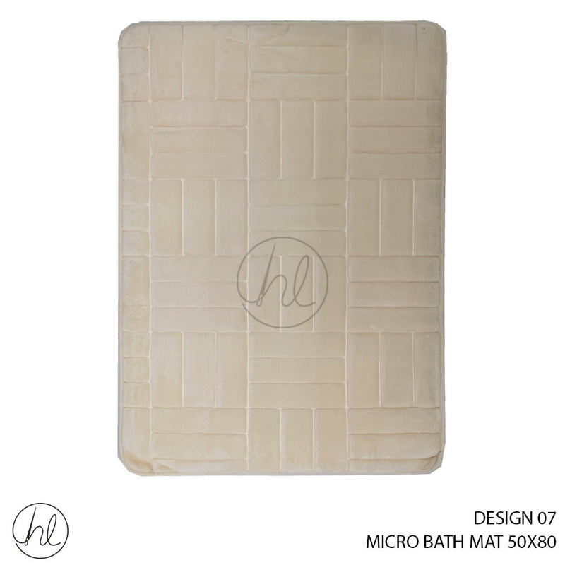MICRO BATH MAT (50X80) (DESIGN 07)