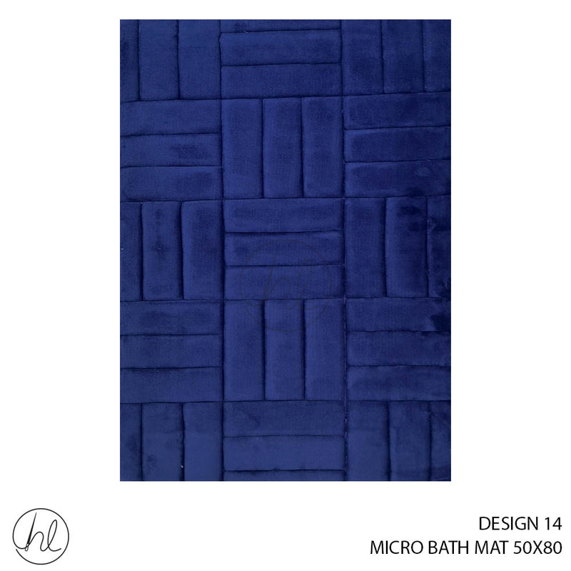 MICRO BATH MAT (50X80) (DESIGN 14)