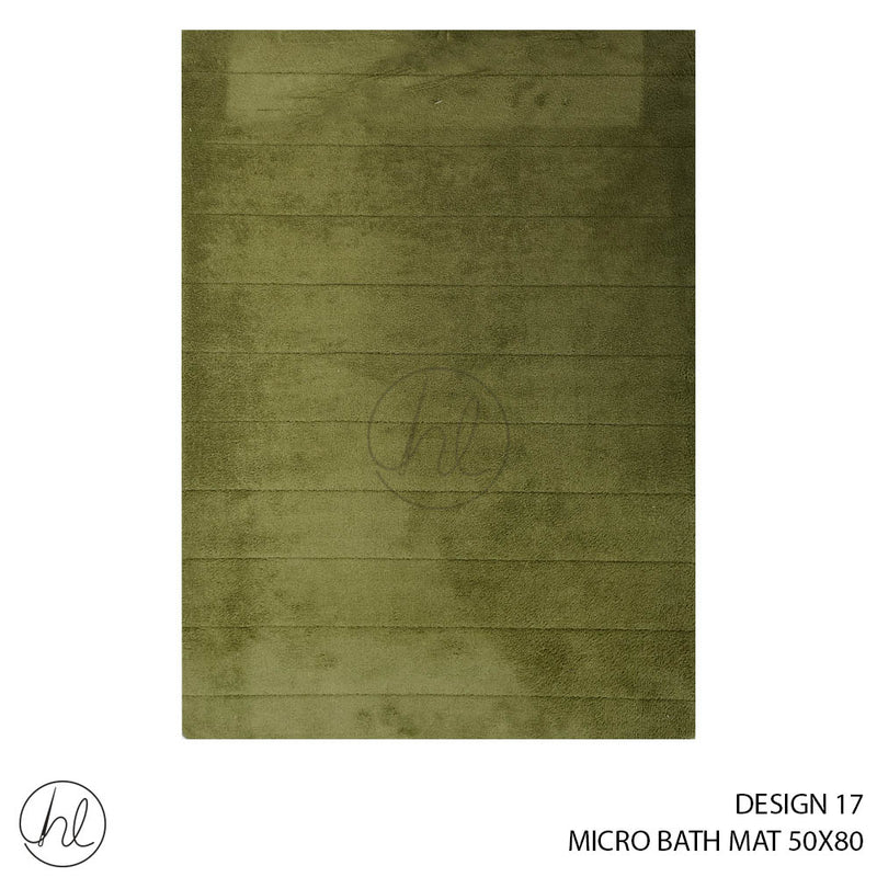 MICRO BATH MAT (50X80) (DESIGN 17)