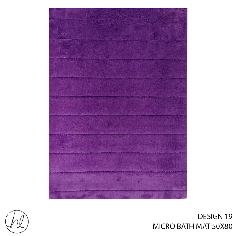 MICRO BATH MAT (50X80) (DESIGN 19)