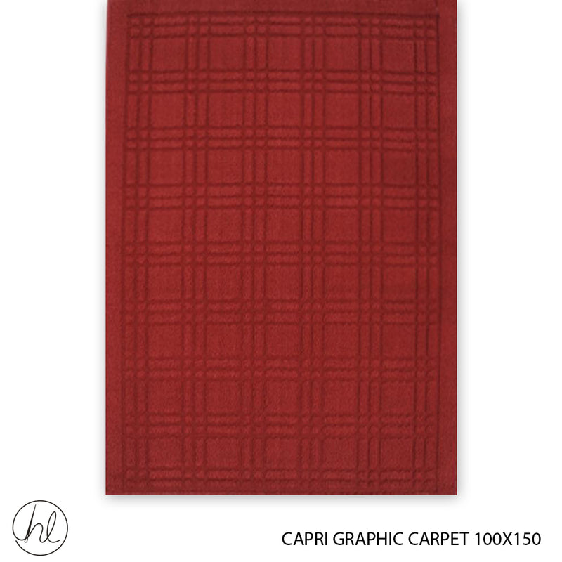 CAPRI GRAPHIC CARPET (100X150) (DESIGN 1)