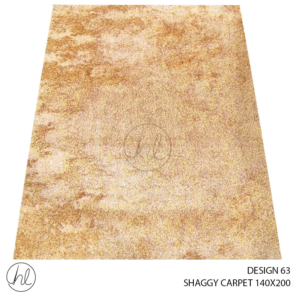 POLY SHAGGY CARPET (140X200) (DESIGN 63)