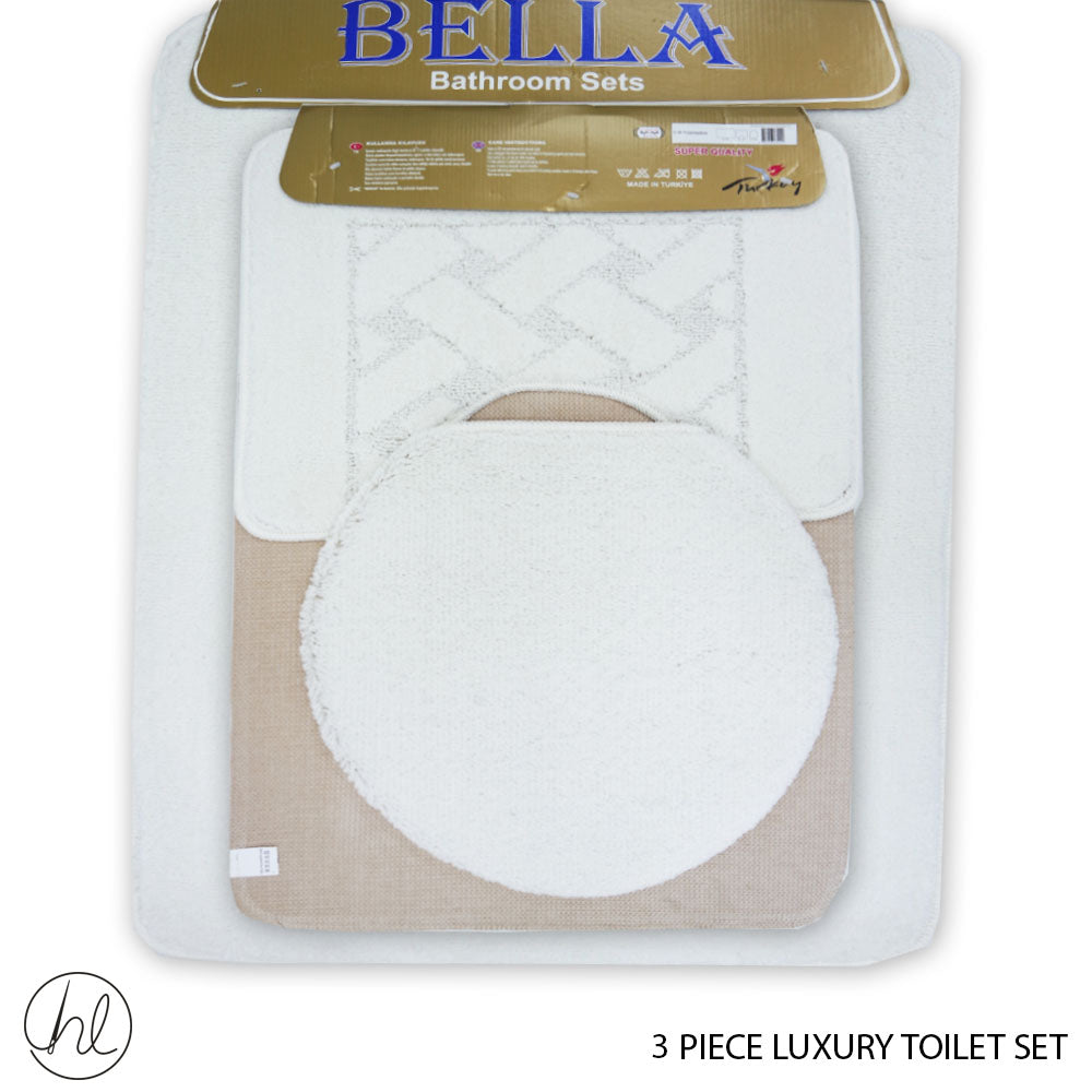 3 PIECE LUXURY TOILET SET (50X80) (DESIGN 14)