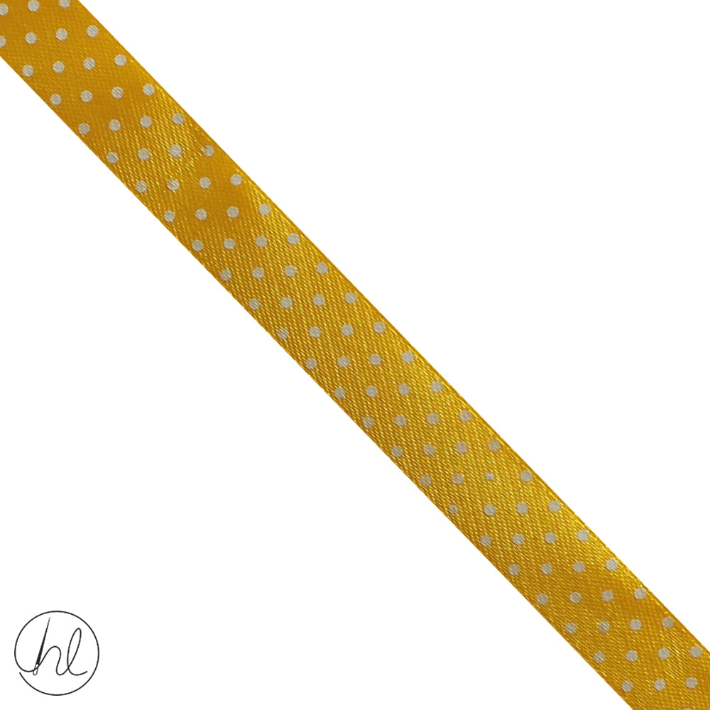 15MM SATIN POLKA DOT RIBBON (COL-14) RIB-PD-15 (P/METRE)