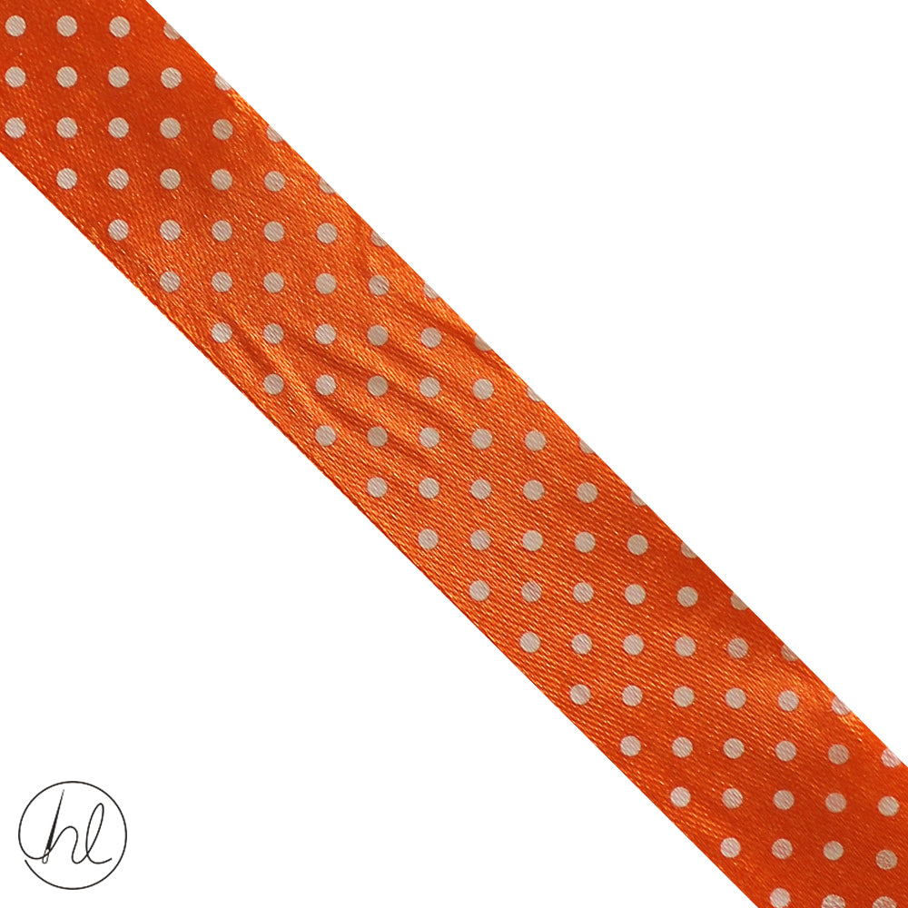 25MM SATIN POLKA DOT RIBBON (COL-05) RIB-PD-25 (P/METRE)