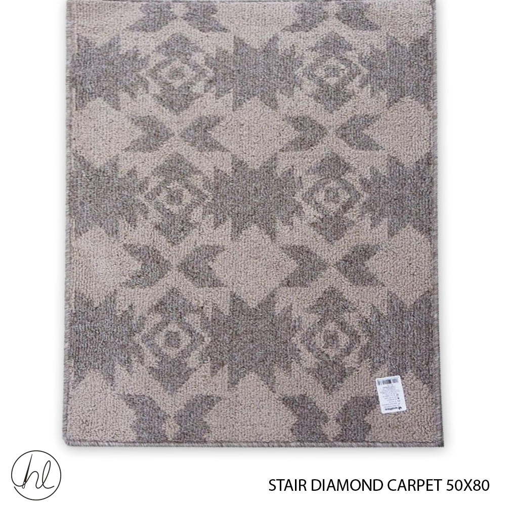 CARPET STAIR DIAMONDS 50X80 DESIGN 12