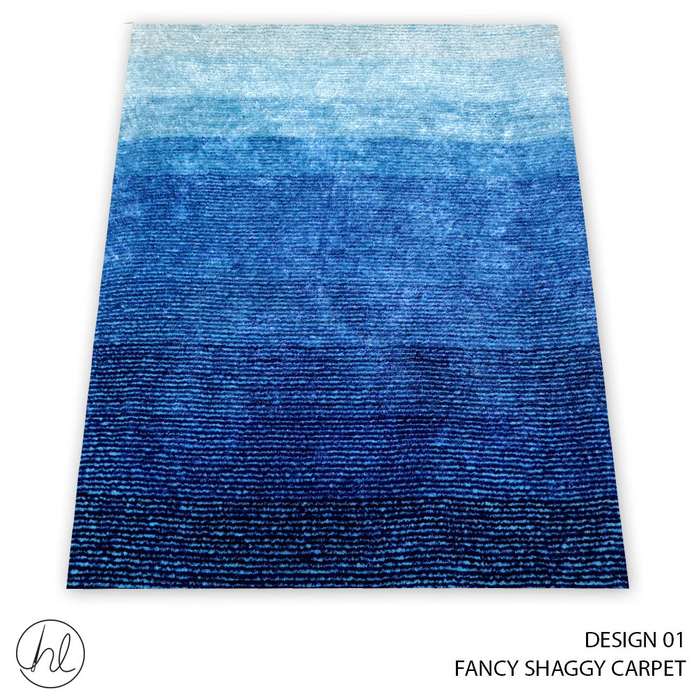 FANCY SHAGGY CARPET (160X230) (DESIGN 01)