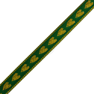 ASSORTED BRAIDS (P/METRE) GREEN