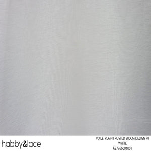 VOILE PLAIN FROSTED 270CM WHITE DESIGN 72
