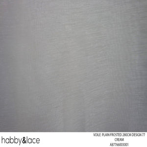 VOILE PLAIN FROSTED 270CM CREAM DESIGN 71