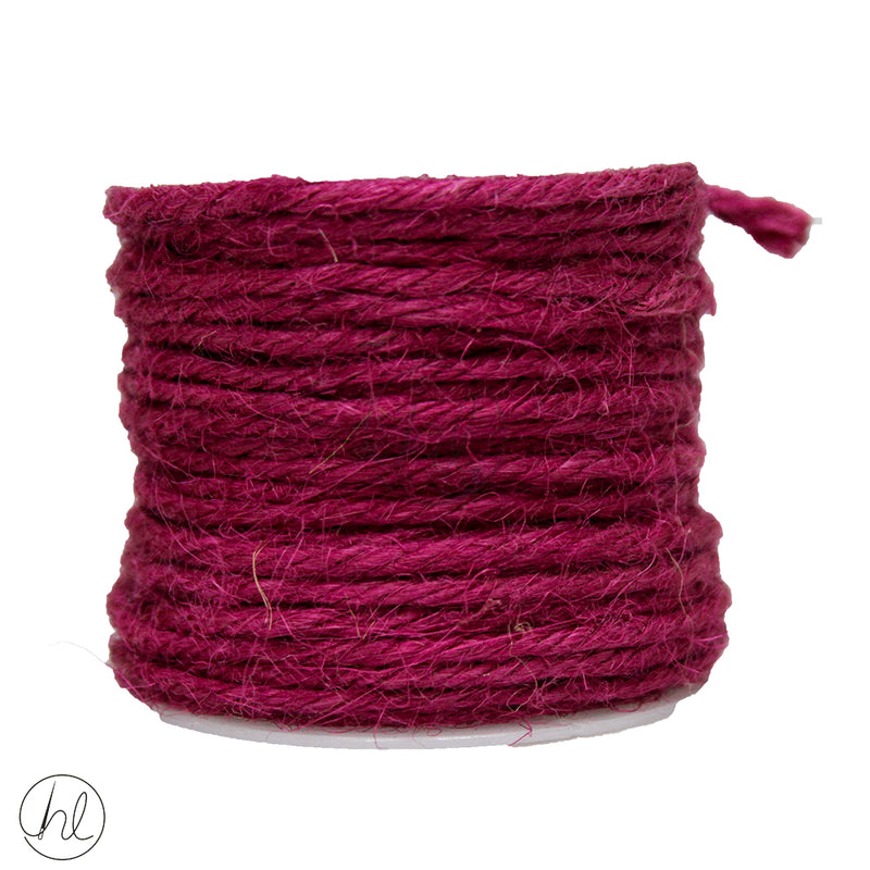 HESSIAN ASSORTED CORD 457 PLUM