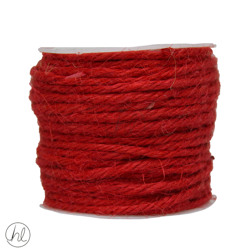 HESSIAN CORD ASSORTED 457 RED