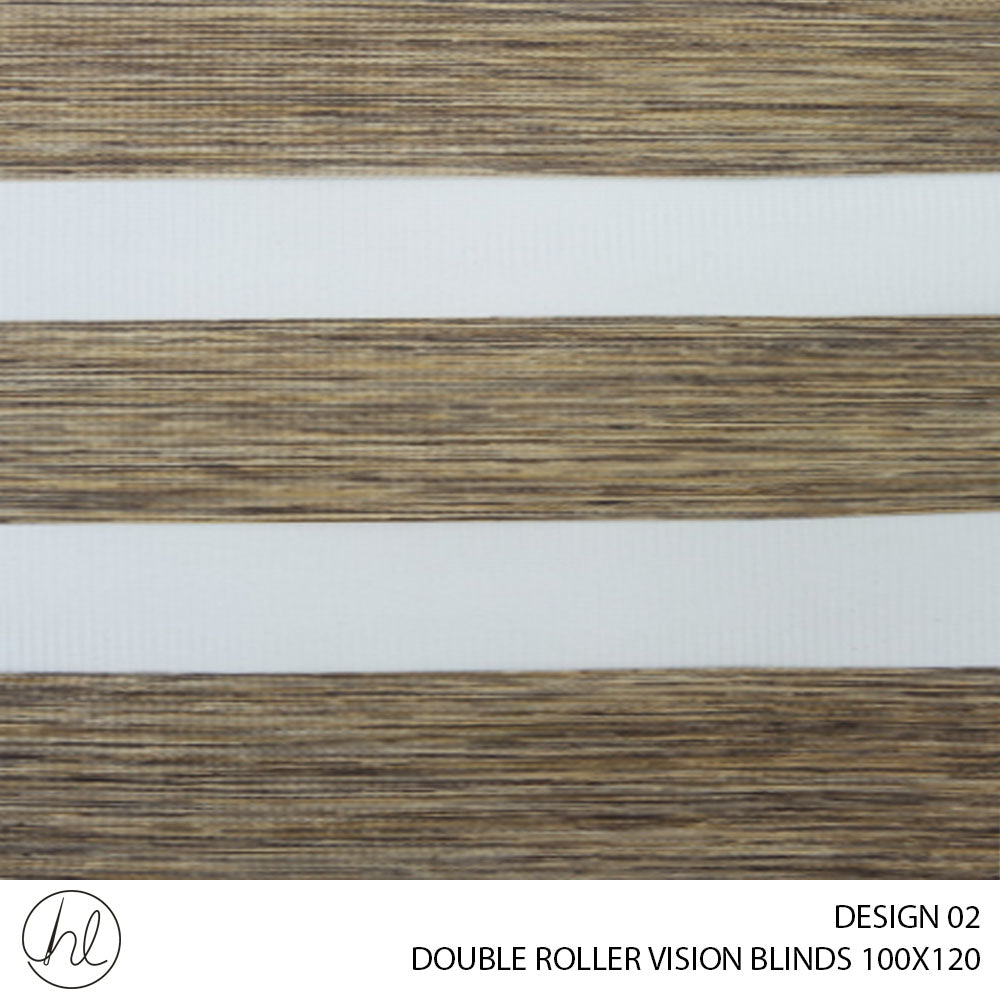 DOUBLE ROLLER VISION BLINDS (100X120) (DESIGN 2)
