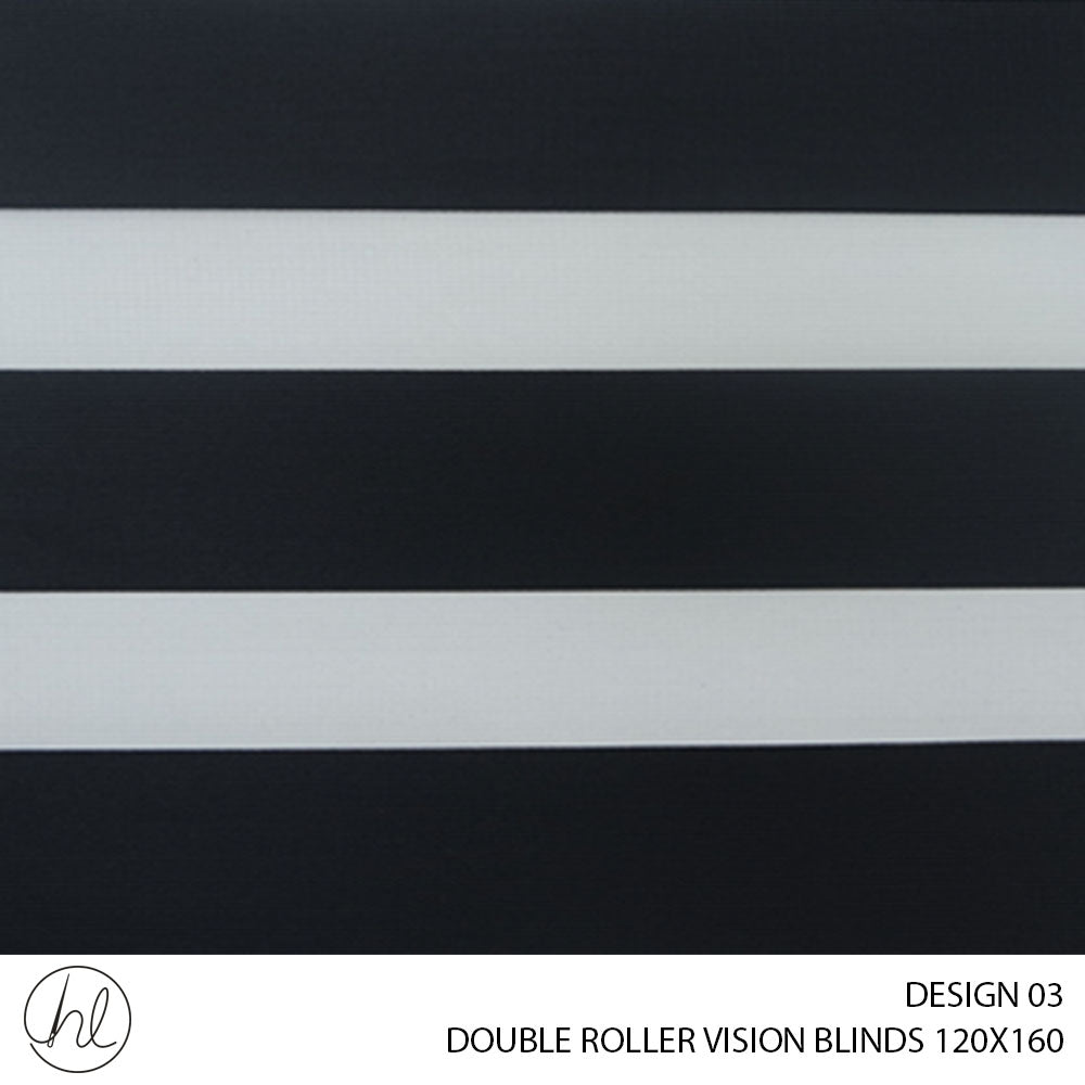 DOUBLE ROLLER VISION BLINDS (120X160) (DESIGN 3)