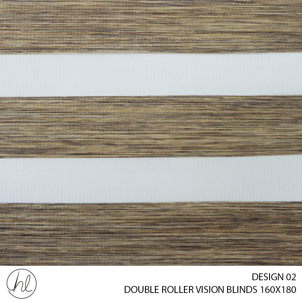 DOUBLE ROLLER VISION BLINDS (160X180) (DESIGN 2)