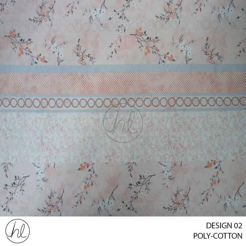 PRINTED SHEETING (ALIZE) (DESIGN 02) (235CM) (PER M)
